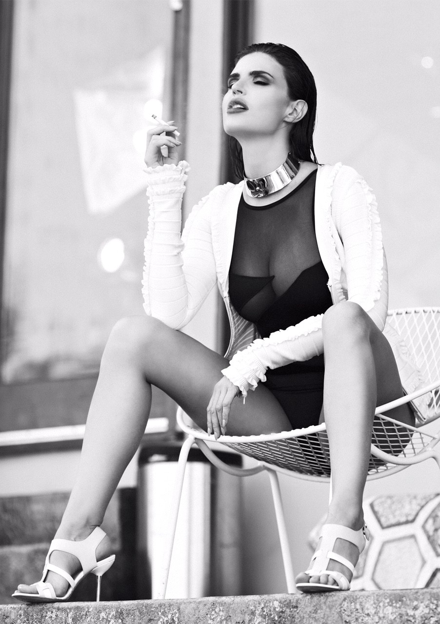 Julia Lescova, fashion, Los Angeles, legs, body, shot