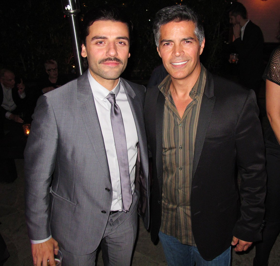 Photo of Oscar Isaac & his friend actor  Esai Morales -