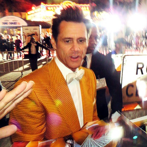 Dumb and Dumber To, Jim Carrey, red carpet, premiere