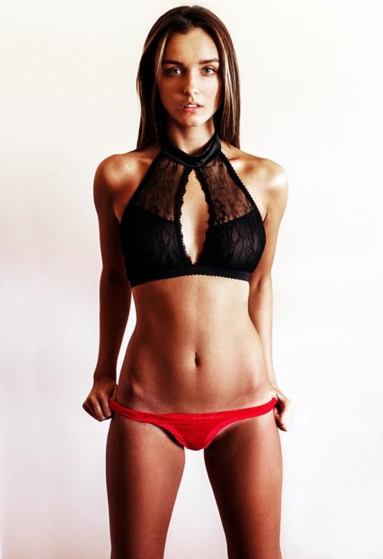 Eliza Ward red bikini