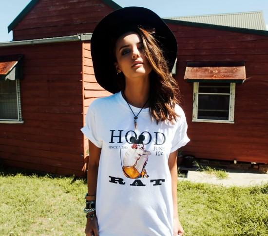 Eliza Ward hipster hat model