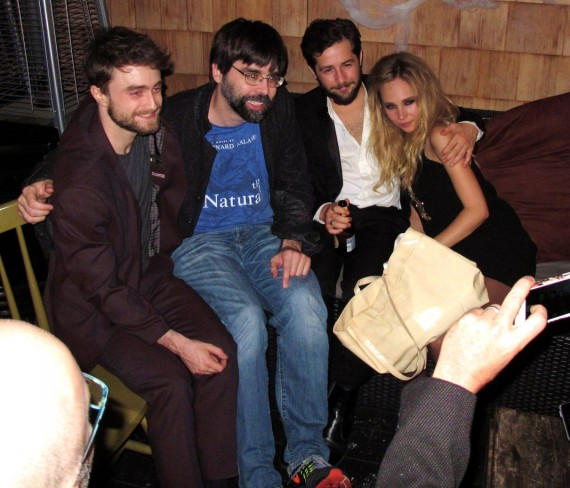 Horns, Daniel Radcliffe, Juno Temple, movie, after party
