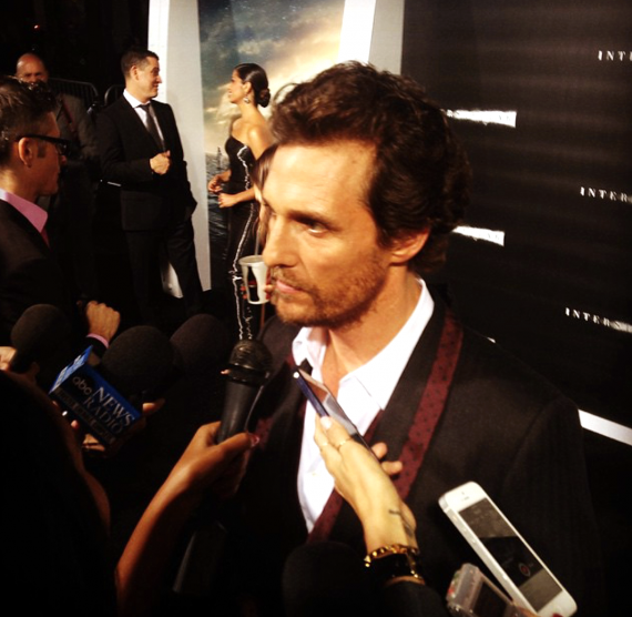Interstellar, Matthew MacConaughey, movie premiere