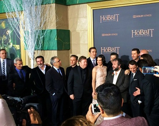 The Hobbit, The Battle of Five Armies, Cast, Hollywood premiere