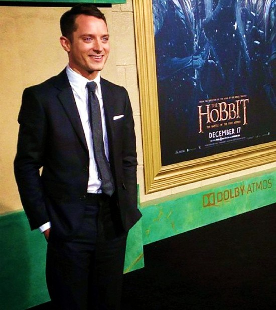 The Hobbit, The Battle of Five Armies, Elijah Wood, red carpet