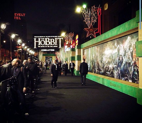 The Hobbit, The Battle of Five Armies, Hollywood premiere, red carpet