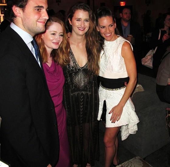 The Homesman, Miranda Otto, Grace Gummer, Hillary Swank, premiere party
