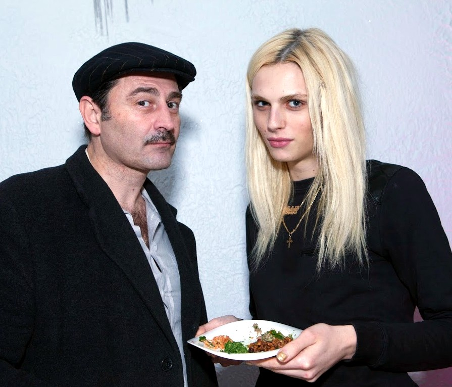 Andrej Pejic and Christopher Koulouris photo by Ken Lo