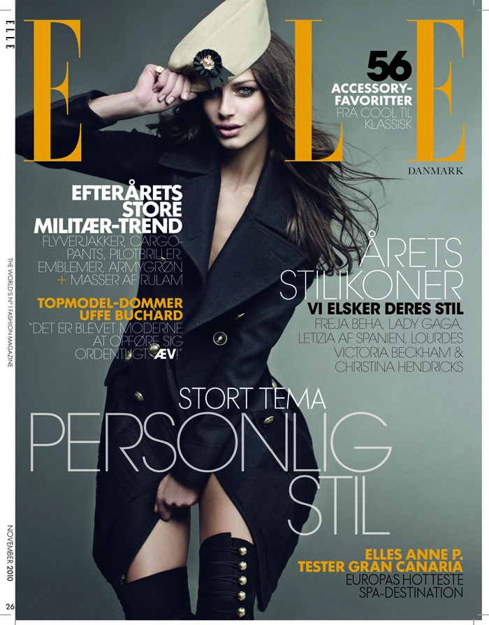 Sandy Leddin RED HOT elle-cover