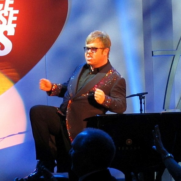 Sir Elton John RED HOT, Race to Erase MS 2013