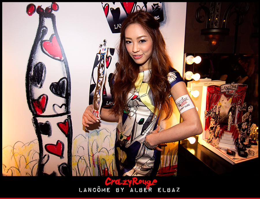 3.	Linah Matsunoka, CrazyRouge, CrazyRougelife, Lancôme show x Alber Elbaz, Lancôme, Make-up, CrazyRougeHongKong