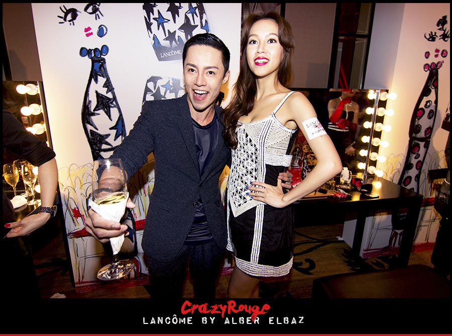 5.	Alvin Goh, Kelly Fu, CrazyRouge, CrazyRougelife, Lancôme show x Alber Elbaz, Lancôme, Make-up, CrazyRougeHongKong