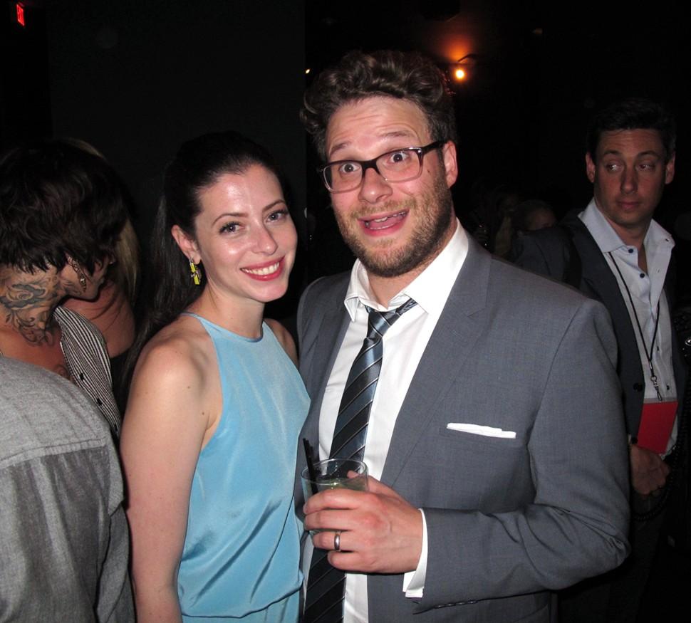 Lauren Miller, Seth Rogen, THIS IS THE END premiere party