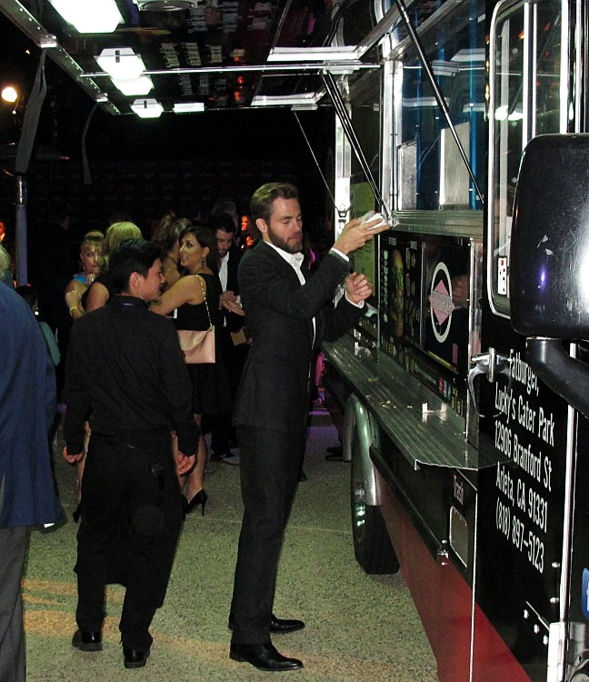 Chris Pine, Fatburger, Chrysalis Butterfly Ball 2013