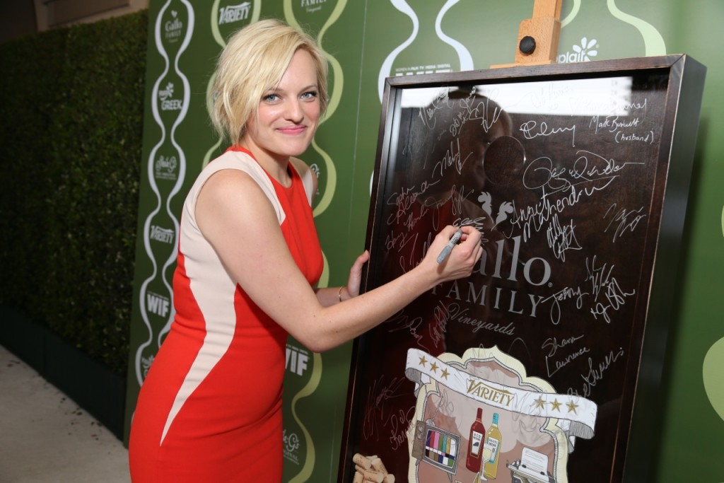 Elizabeth Moss Celebrates TV  Families with Gallo Family Vineyards on the Red Carpet at the Variety Women  in Film Pre-Emmy Party