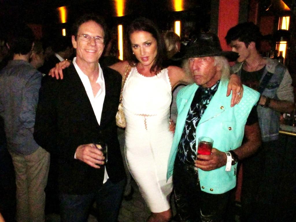 Jeff Rice, Barbara Duerrer, James Jimmy Goldstein, Wilhelmina Fashion Week + party + La Cenita