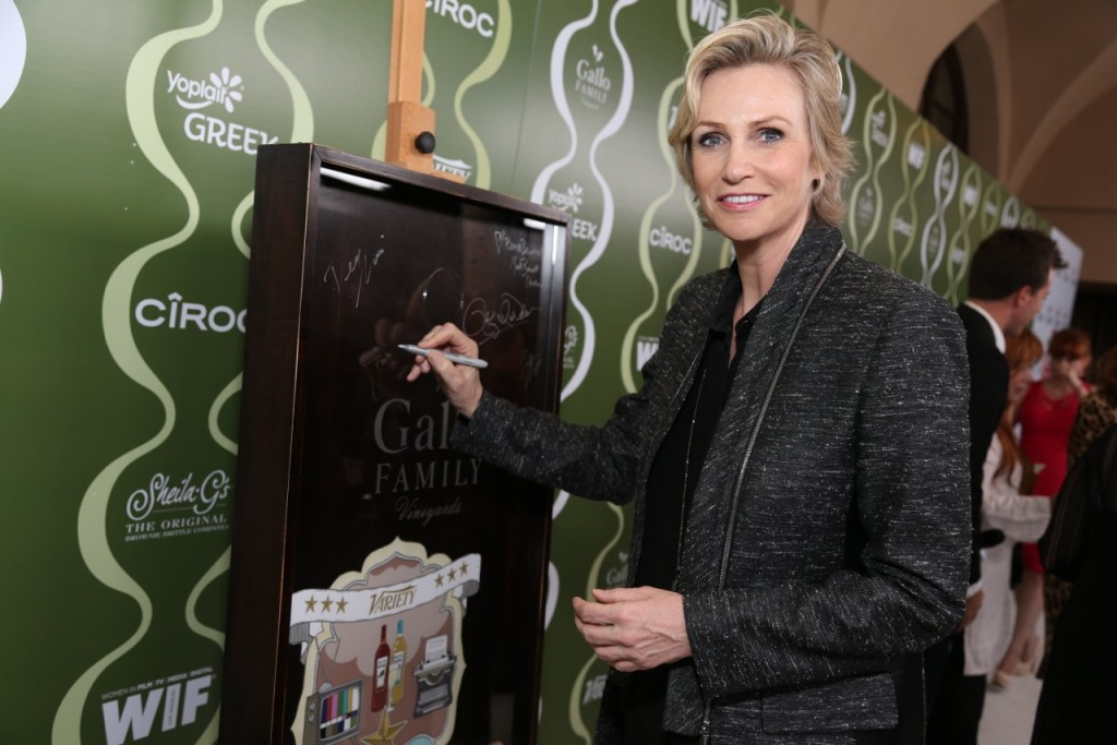Jane Lynch Celebrates TV Families  with Gallo Family Vineyards on the Red Carpet at the Variety Women in Film  Pre-Emmy Party
