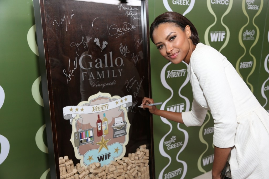 Kat Graham Celebrates TV Families  with Gallo Family Vineyards on the Red Carpet at the Variety Women in Film  Pre-Emmy Party