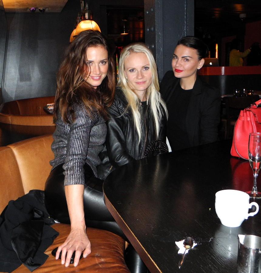 Barbara Duerrer, Maria Eerolainen, Anna Sizykh + Tiësto dinner