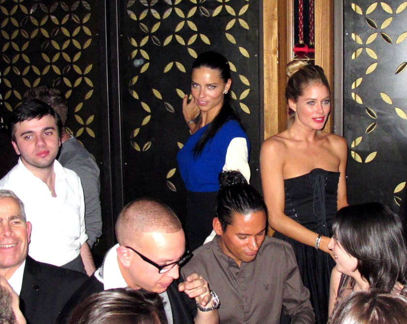 Victoria's Secret + After Party + Adriana Lima + Doutzen Kroes