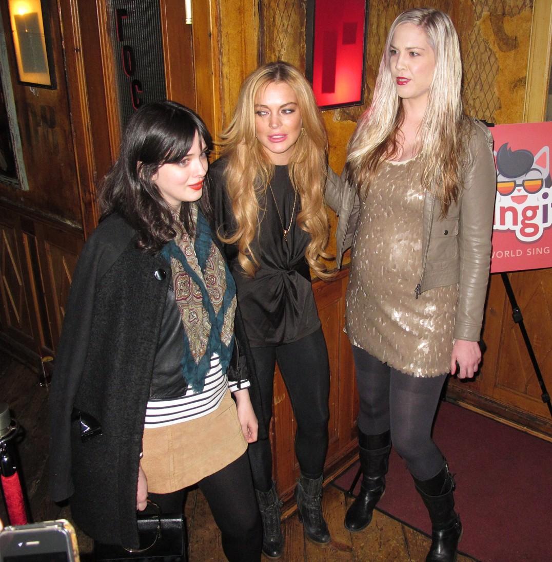Lindsay Lohan Pravda New York soho
