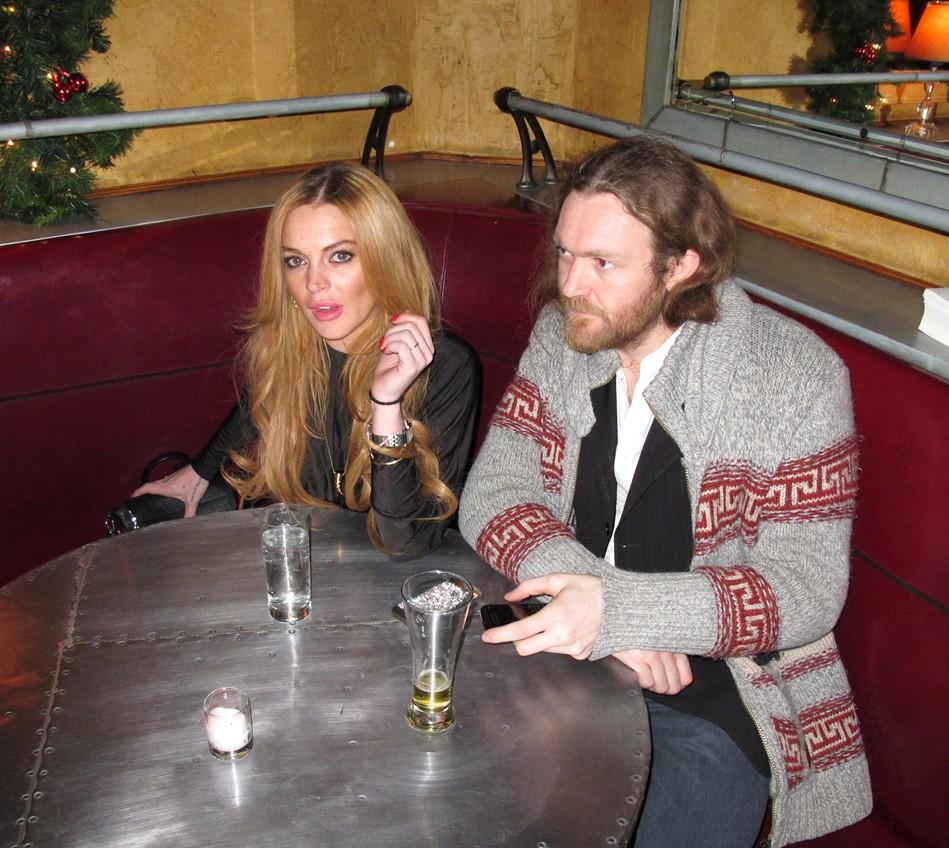 Lindsay Lohan Jame Huddleston, Pravda, New York, PravdaNYC