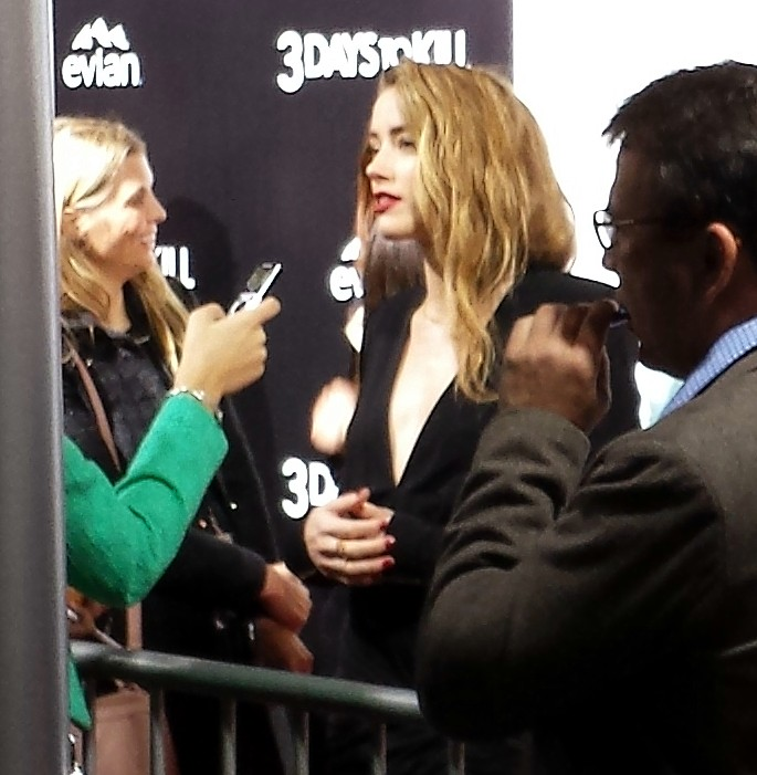 Amber Heard + 3 Days to Kill red carpet