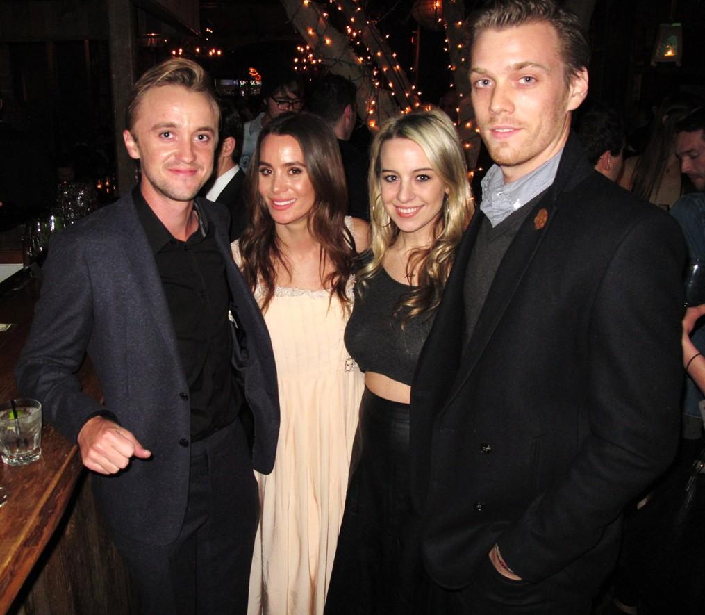 Tom Felton + actor + In Secret + movie premiere + Los Angeles