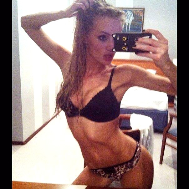 Olya Abramovich lingerie selfie