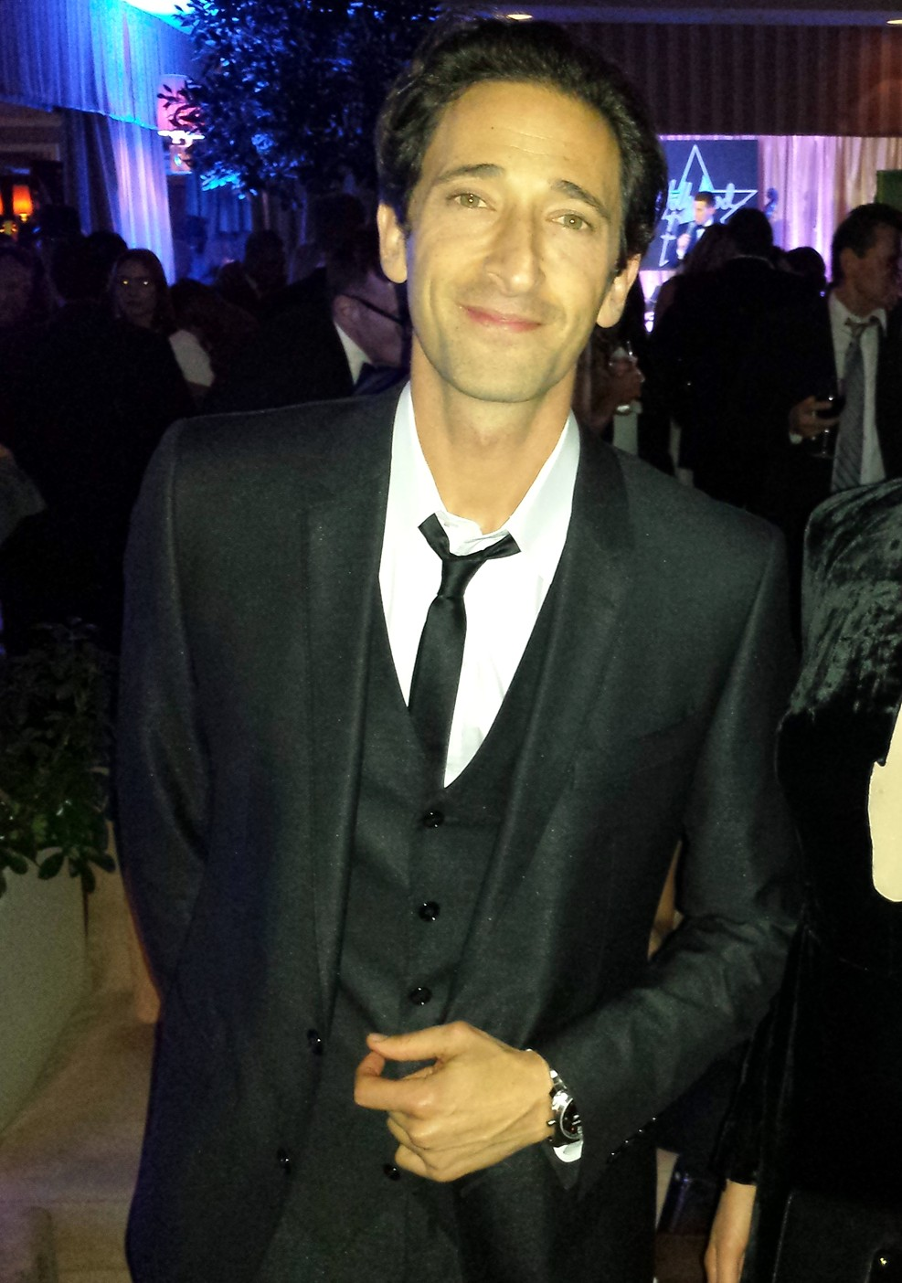 Adrien Brody + HOLLYWOOD DOMINO PRE OSCAR CHARITY SOIREE