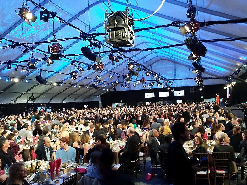 inside tent + FILM INDEPENDENT SPIRIT AWARDS 2014