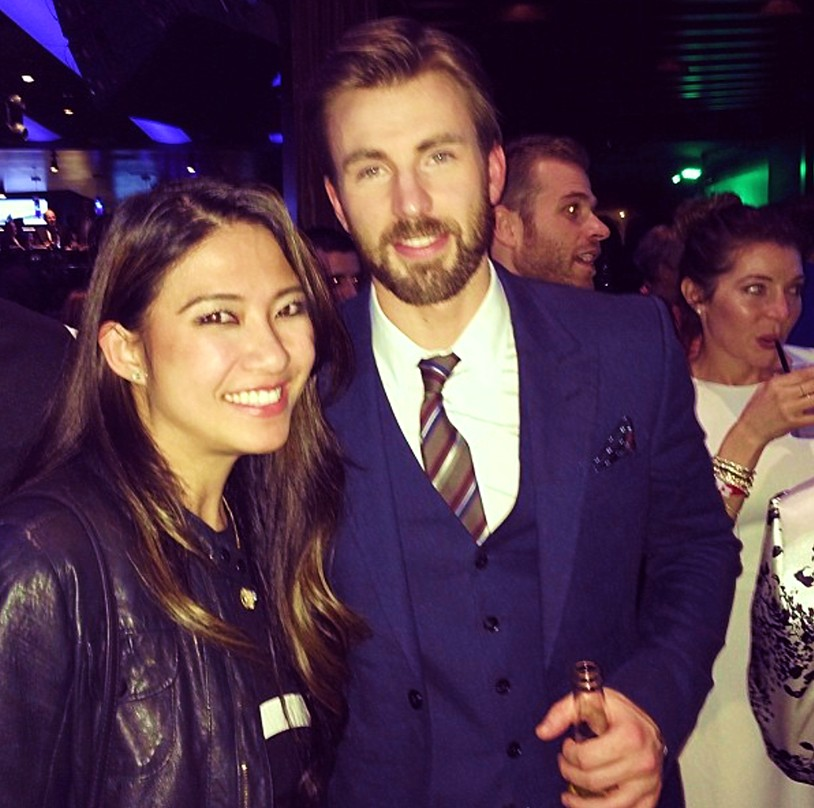 Chris Evans + Captain America + after party + premiere + LA