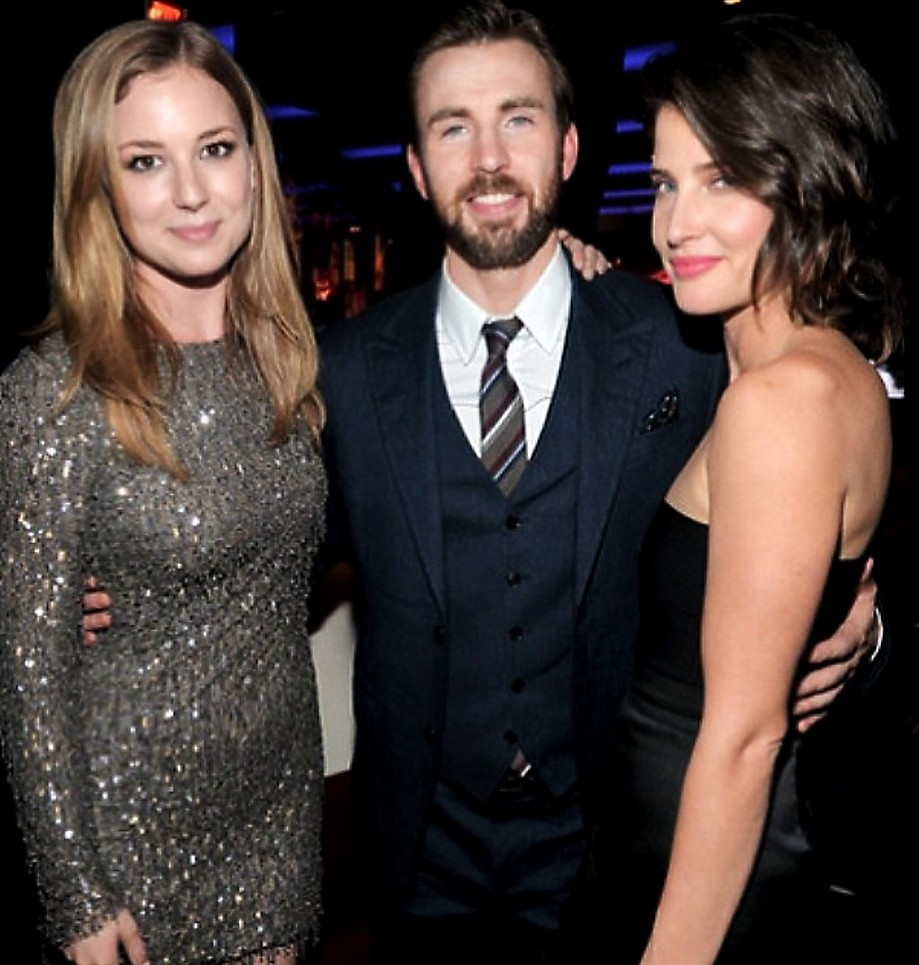Emily VanCamp + Chris Evans + Cobie Smulders + Captain America + Premiere + Party