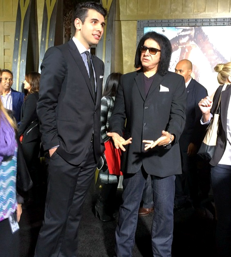 Nick Simmons + Gene Simmons 300 Movie Premiere