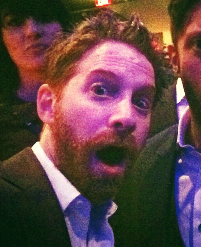 Seth Green + Captain America + premiere + party
