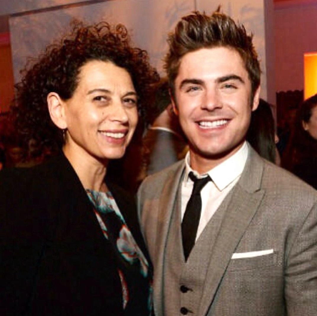 Donna Langley + Zac Efron Neighbors premiere