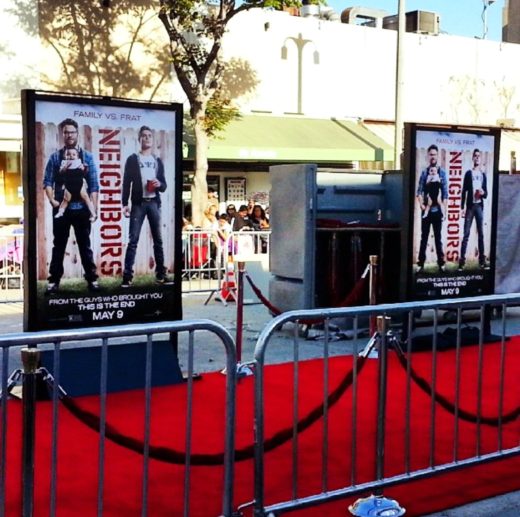 Neighbors Premiere red carpet