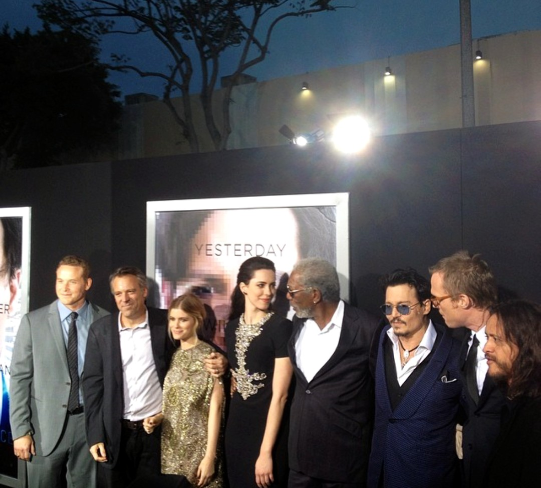 Transcendence premiere Johnny Depp, Morgan Freeman, Kate Mara