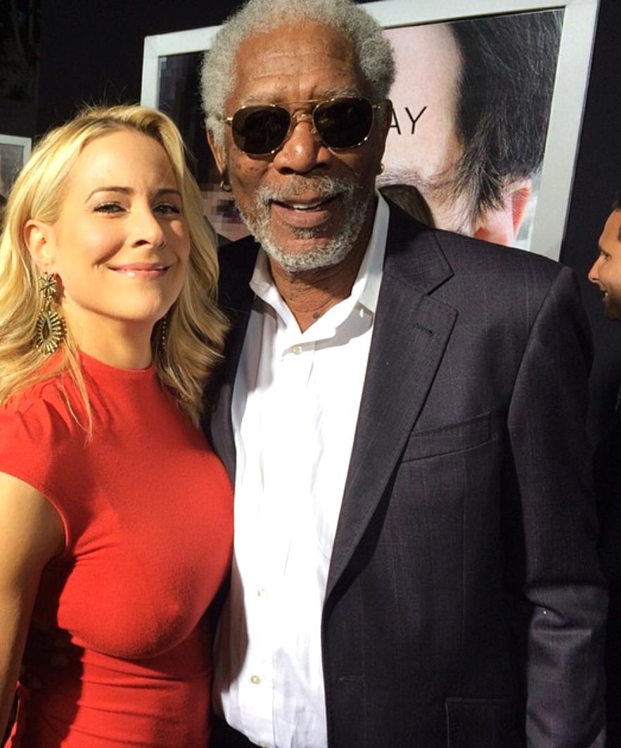 Transcendence premiere Morgan Freeman LA