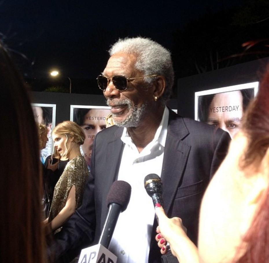 Transcendence premiere Morgan Freeman