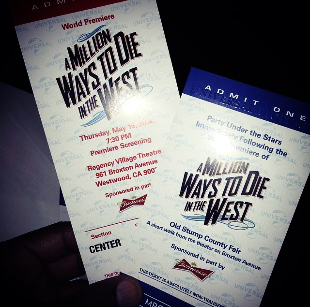 A Million Ways to die in the West after party tickets