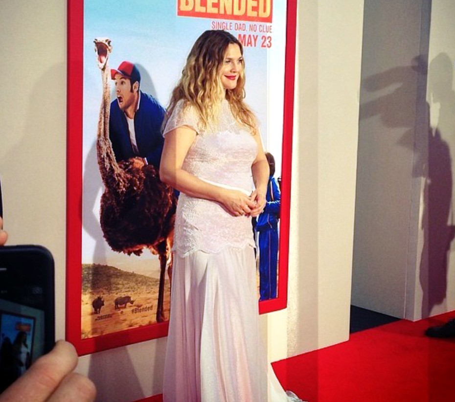 Blended movie premiere, Drew Barrymore