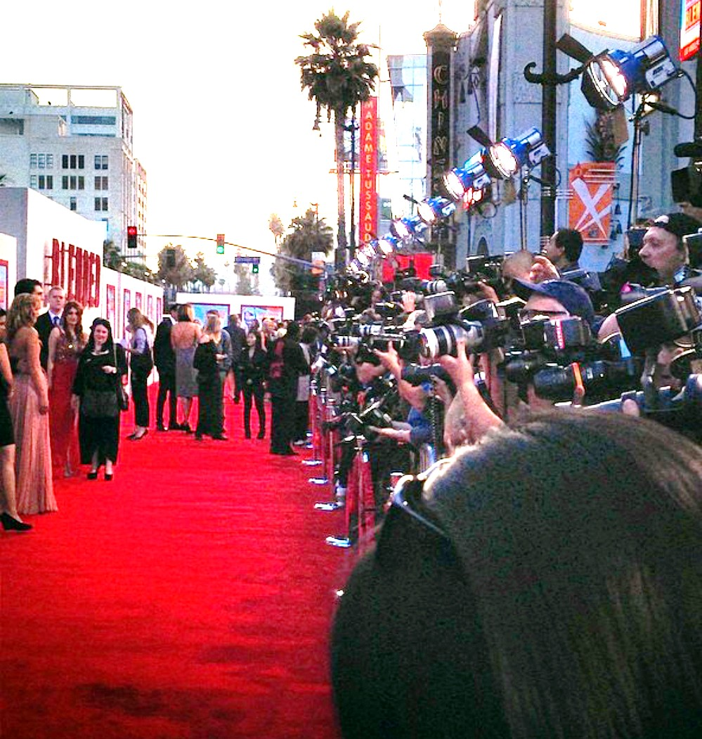 Blended movie premiere red carpet