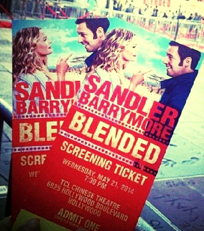 Blended movie premiere tickets