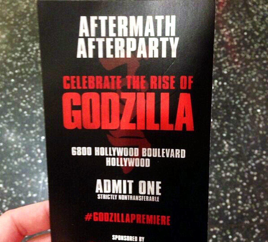 Godzilla ticket after party