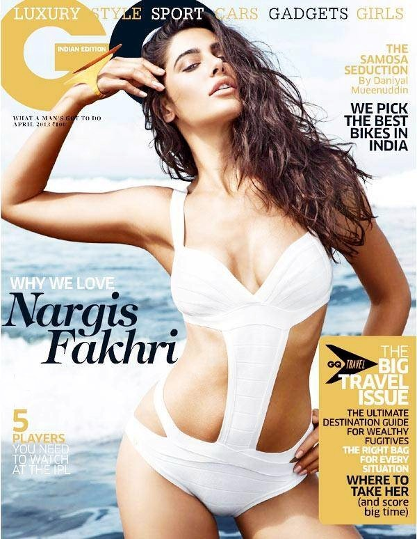 Rockstar-girl-Nargis-Fakhri-flaunts-her-hard-to-believe-figure-in-a-white-cutaway-swimsuit-in-the-latest-issue-of-a-GQ-magazine