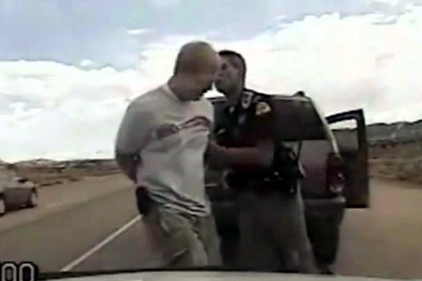 bored utah high patrol tasers man