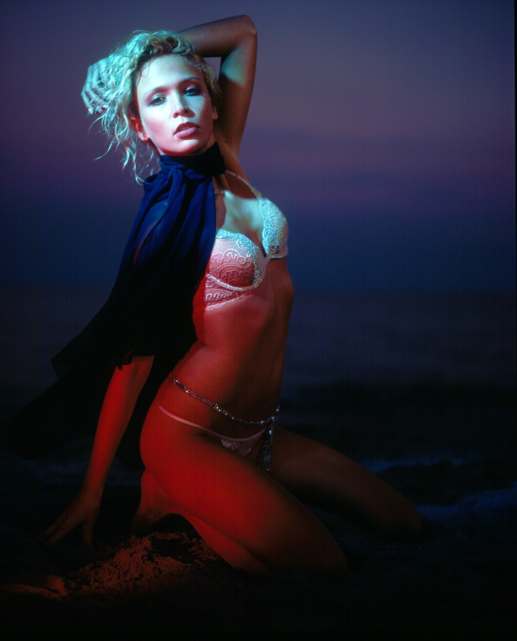 Karol Marie Morrison lingerie fashion shot