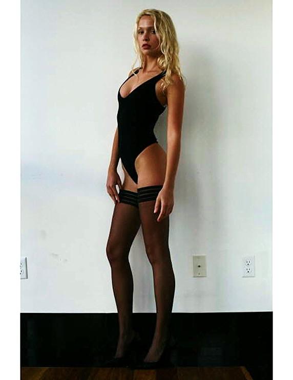 Karol Marie Morrison sexy lingerie black