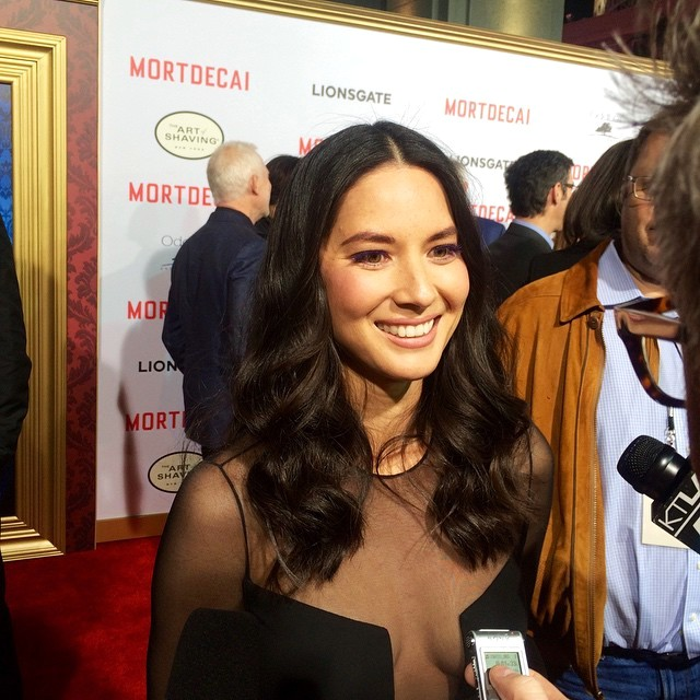 Mortdecai, Olivia Munn, movie premiere